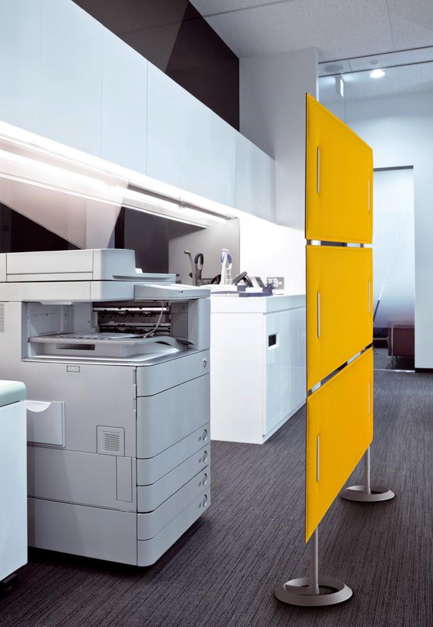 gelbe raumteiler trennwand und schallschutz raumteiler ideen sichtschutz ideen. Black Bedroom Furniture Sets. Home Design Ideas
